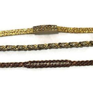 Jewelry - Gold tone bracelets - lot of three